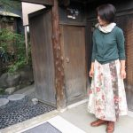 BonBon花柄パッチスカート
