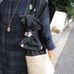 麻紐と大きなおリボンバッグ
