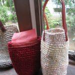 裂き編みミニバッグ