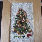 クリスマスツリーの絵織り