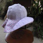 シルクコットンとソレイアード帽子