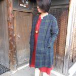 ブラックウォッチ綿コート