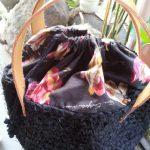 裂き編みバッグ黒