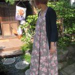 リネン薔薇サマードレス