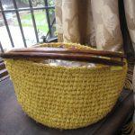 裂き編みバッグ黄色