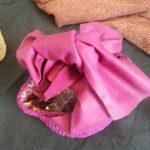 裂き編みバッグ大きなおリボン