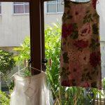 2015年夏のお洋服展イギリスリネンお花柄ノースリーブワンピース